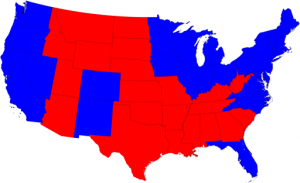 2008 election, red-vs-blue states