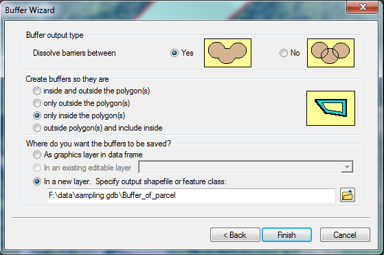 Using the buffer wizard in ArcGIS 10 x | Geographic